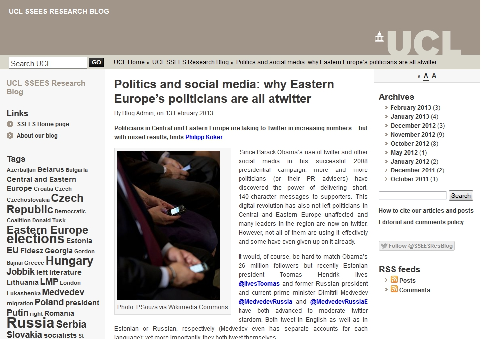 Politics and social media; why Eastern Europe's politicians are all atwitter