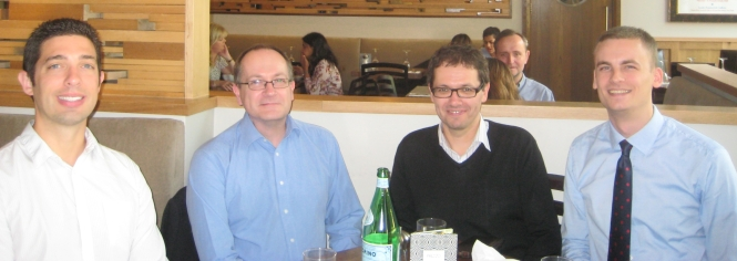From left to right: Dr James Melton (UCL School of Public Policy, internal examiner), Professor Robert Elgie (Dublin City University, external examiner), Dr Allan Sikk (UCL SSEES, principal supervisor), myself.