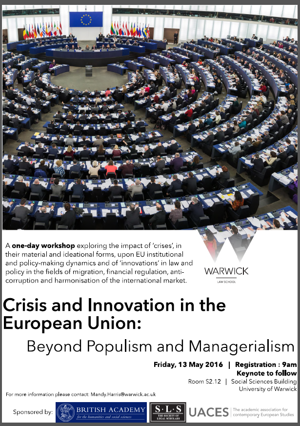 Crisi and innovation in the EU - warwick workshop
